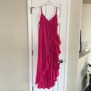 Hot Pink High Low Romper
